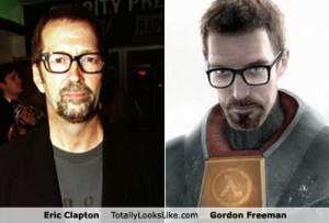 Eric Clapton compared with Gordon Freeman